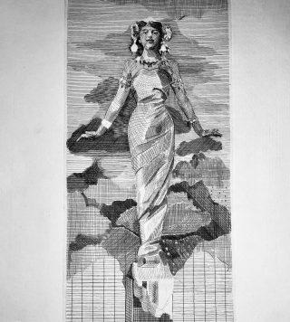 """Engraving Proofprint """"Mata Hari"""""""