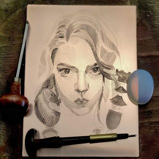 """Engraving """"the queens gambit"""" #queensgambit"""
